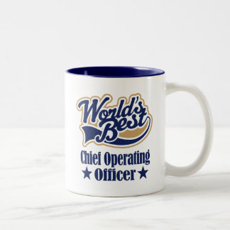 Chief Operating Officer Gift For (Worlds Best) Two-Tone Coffee Mug