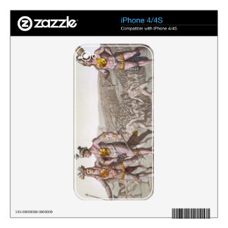 Chief Outina, Enemy of Saturiba, Walks Among his F Decals For iPhone 4