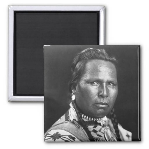 Chief Owen Heavy Breast, 1901 2 Inch Square Magnet