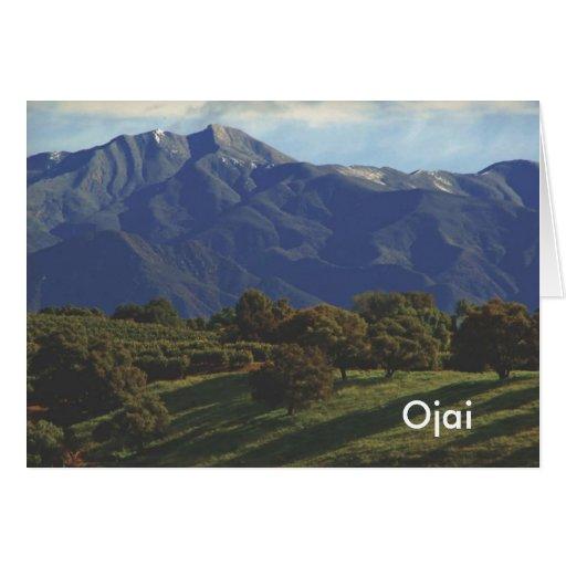 Chief Peak, Ojai Greeting Card