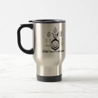 Chief Petty Officer Electrician's Technician 15 Oz Stainless Steel Travel Mug