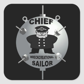 CHIEF PETTY OFFICER SQUARE STICKER