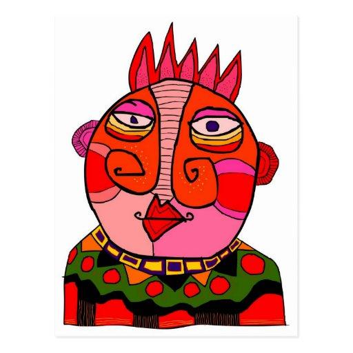 'chief red cheeks' postcard