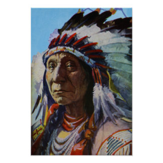 Chief Red Cloud Oglala Lakota Sioux Tribe Poster