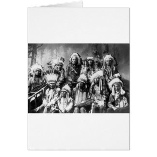 Chief Red Cloud & Other Chiefs, 1899 Card