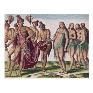 Chief Satouriona and his Wife go for a Walk Postcard