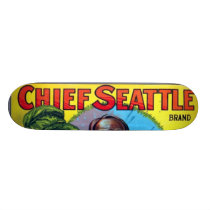 Chief Seattle Apples Skateboard Deck