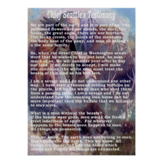 chief seattles testimony poster