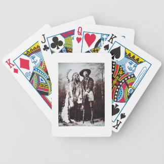 Chief Sitting Bull (1831-90) on tour with Buffalo Bicycle Playing Cards