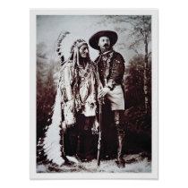 Chief Sitting Bull (1831-90) on tour with Buffalo Poster
