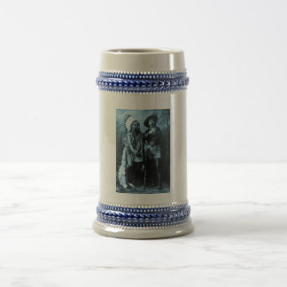 Chief Sitting Bull and Buffalo Bill 1895 Beer Stein