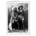Chief Sitting Bull and Buffalo Bill 1895 Greeting Cards