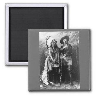 Chief Sitting Bull and Buffalo Bill 1895 Magnet