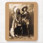 Chief Sitting Bull and Buffalo Bill 1895 Mouse Pad