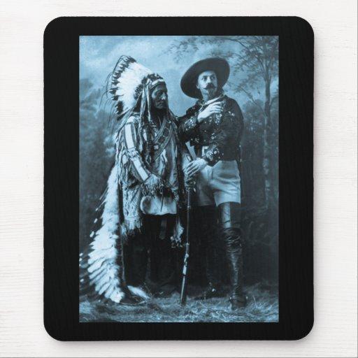 Chief Sitting Bull and Buffalo Bill 1895 Mousepads