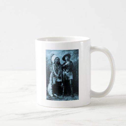 Chief Sitting Bull and Buffalo Bill 1895 Mugs