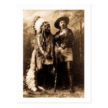 Chief Sitting Bull and Buffalo Bill 1895 Postcard