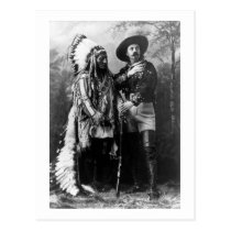 Chief Sitting Bull and Buffalo Bill 1895 Vintage Postcard