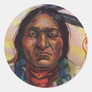 Chief Sitting Bull Classic Round Sticker