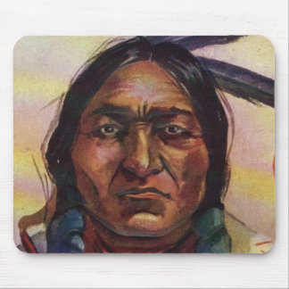 Chief Sitting Bull Mouse Pads