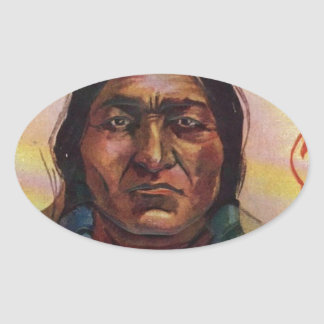 Chief Sitting Bull Oval Sticker