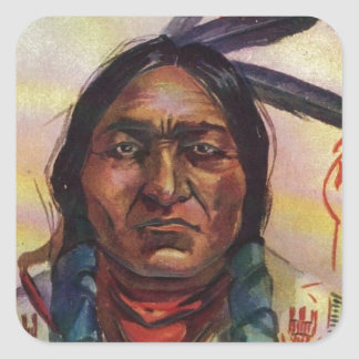 Chief Sitting Bull Square Sticker
