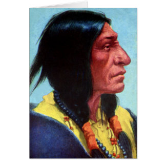 Chief Spotted Tail Brule Lakota Tribal Chief Greeting Card