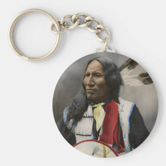 Chief Strikes With Nose, Oglala Sioux  1899 Keychains