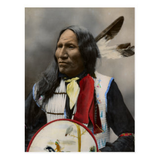 Chief Strikes With Nose, Oglala Sioux  1899 Postcard