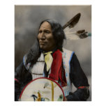 Chief Strikes With Nose, Oglala Sioux 1899 Print