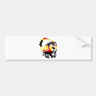 Chief Tri color design Bumper Sticker