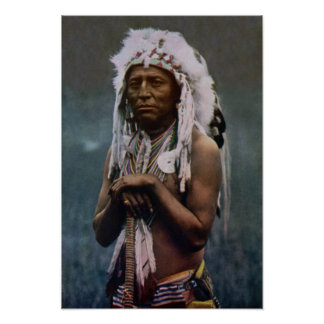 Chief Two Guns White Calf Glacier National Park Poster