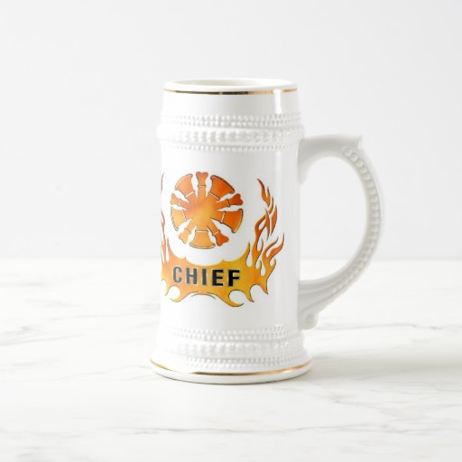 Chief's Flames 18 Oz Beer Stein