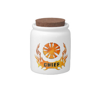 Chief's Flames Candy Dish