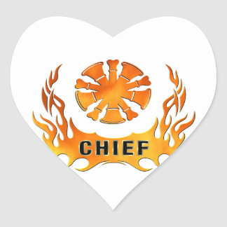 Chief's Flames Heart Sticker