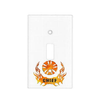 Chiefs Flames Light Switch Cover