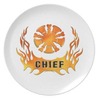 Chiefs Flames Melamine Plate