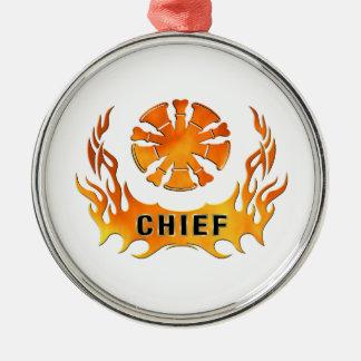 Chief's Flames Metal Ornament