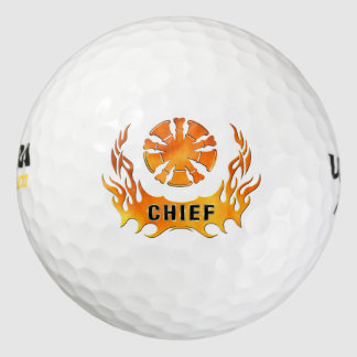 Chief's Flames Pack Of Golf Balls