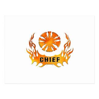 Chief's Flames Postcard