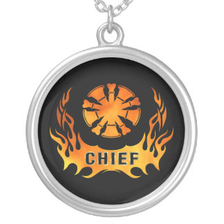 Chief's Flames Silver Plated Necklace