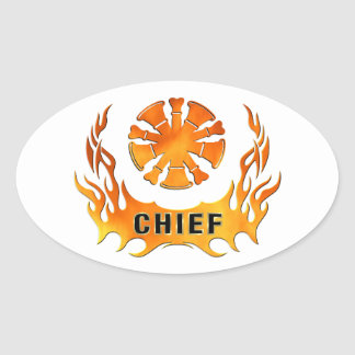 Chief's Flames Stickers
