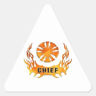 Chief's Flames Triangle Sticker