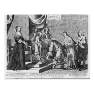 Chiefs of Fronde admitted to greet the King Postcard