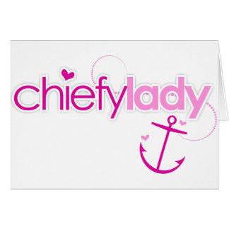Chiefy Lady Card