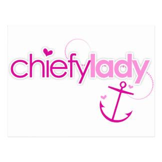 Chiefy Lady Postcard