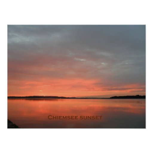 chiemsee sunset poster