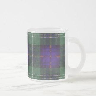 Chiene clan Plaid Scottish kilt tartan Frosted Glass Coffee Mug