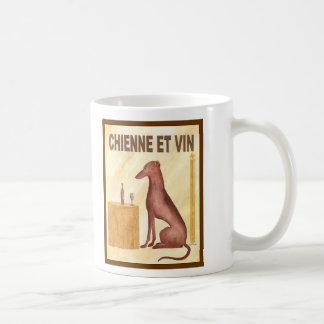 Chienne et Vin Mugs