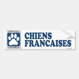Chiens Francaises Blue Bumper Sticker